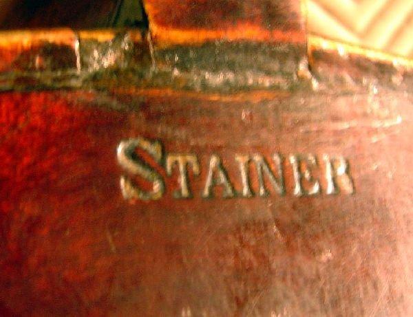 792: German violin, back stamped Stainer, - 4