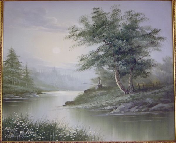 848: B. Oldfield, Landscape with figure on a