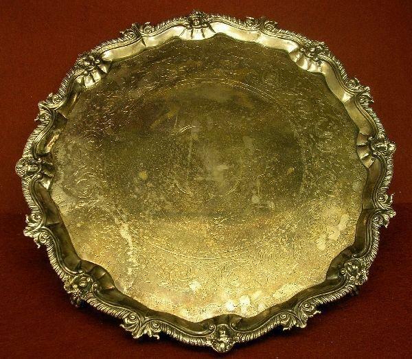1071: George II Irish silver salver