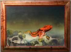 Roger Dean (b. 1944) - Octopus, mixed media painting