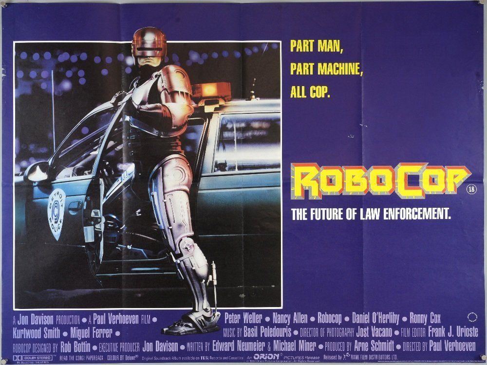 Robocop (1987) British Quad film poster, starring Peter