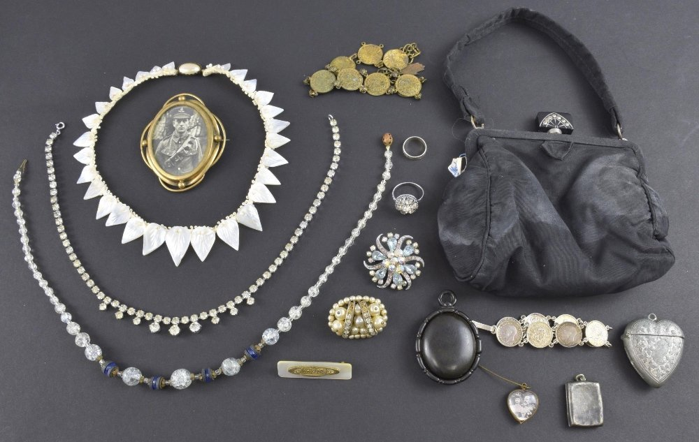 Costume jewellery including a Victorian
