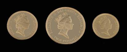 1994 gold proof three coin set including