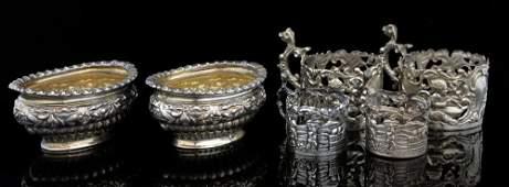 Pair of Victorian silver salts London 18