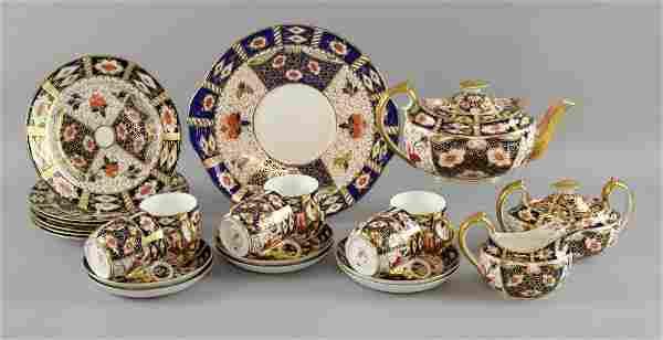 Royal Crown Derby porcelain tea service,