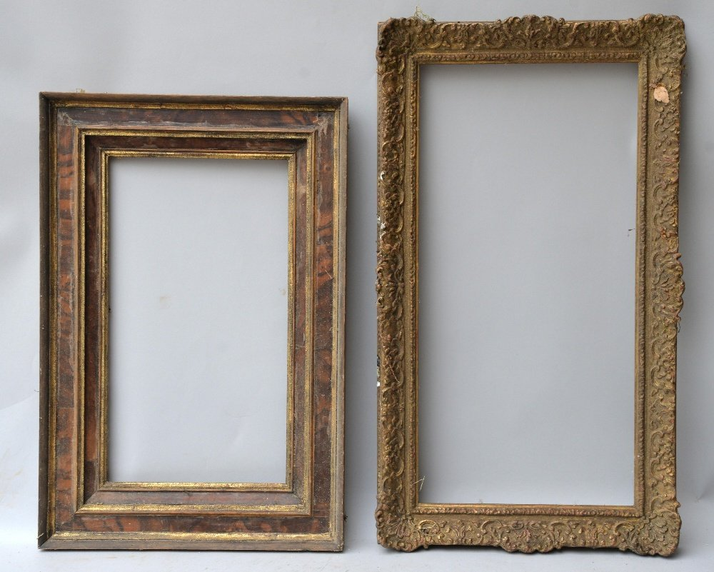 Seven gilt wood and gesso picture frames, various