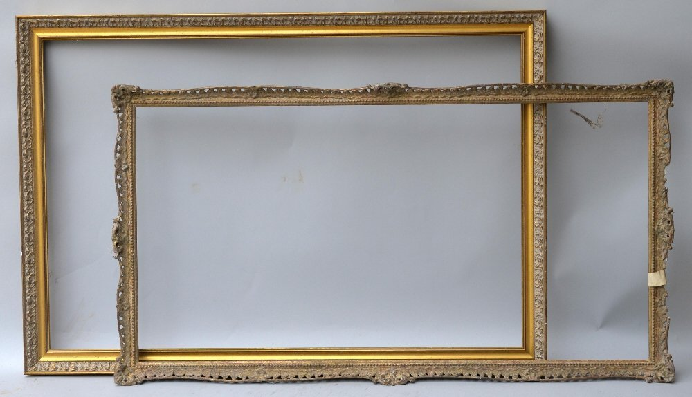 Four gilt wood and gesso picture frames, various s