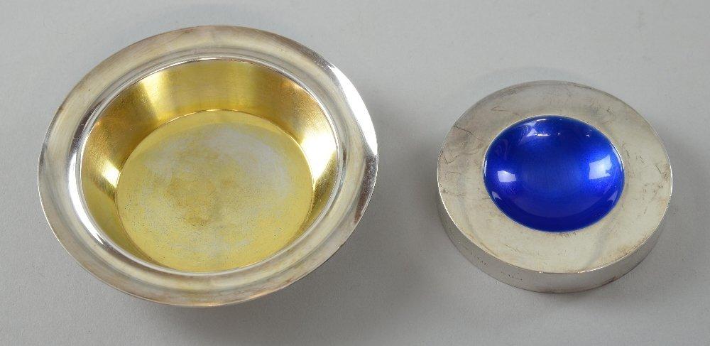 Georg Jensen silver gilt dish 1147, import mark 2012