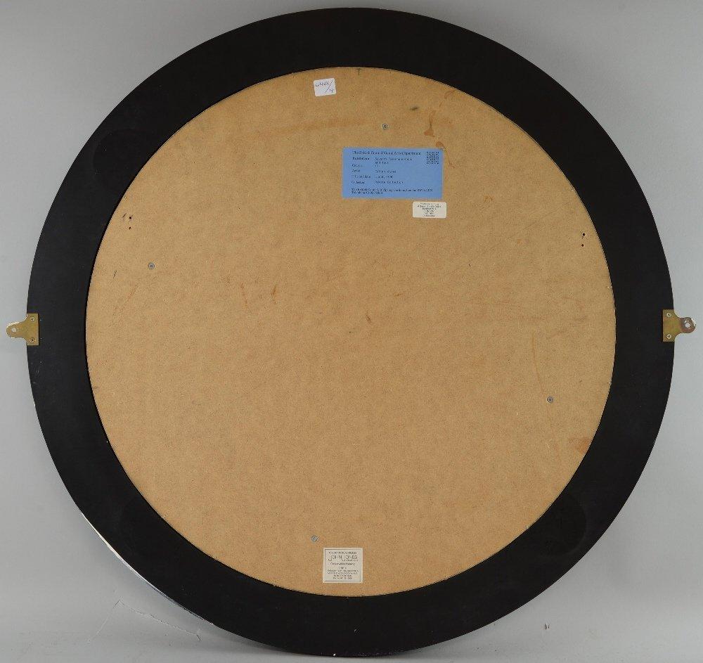 Gillian Ayres b.1930, 'Lundi', tondo 60.5cm diameter, - 4