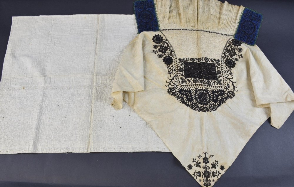 Queen Anne period quilted  fragment,  quilting in the