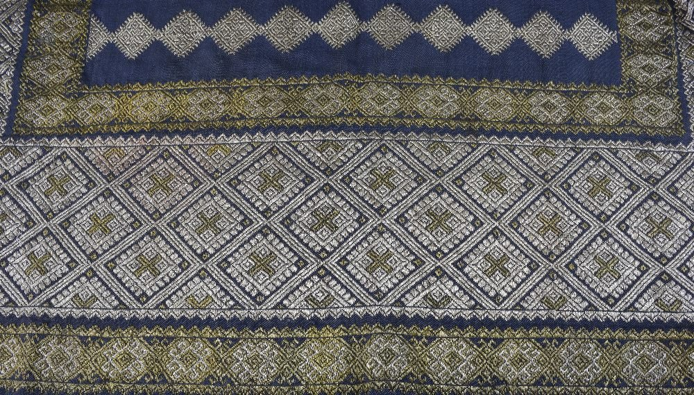 19th Century Romanian skirt panel, heavily embroidered