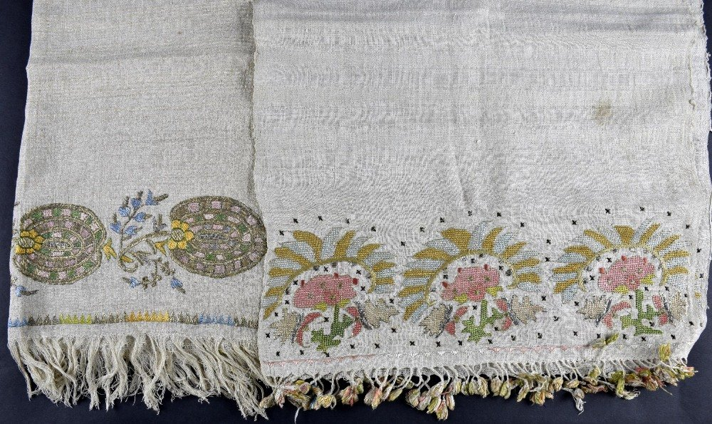 Two Ottoman period  towels from Greek Islands Mitylene,