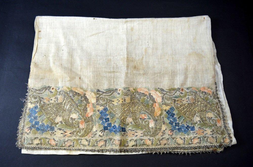 18th C Ottoman, a fine sash , the ends with deep border