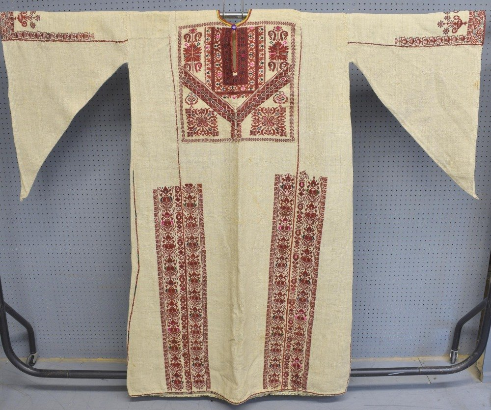 Two 19th C Palestinian male robes, one of hand woven