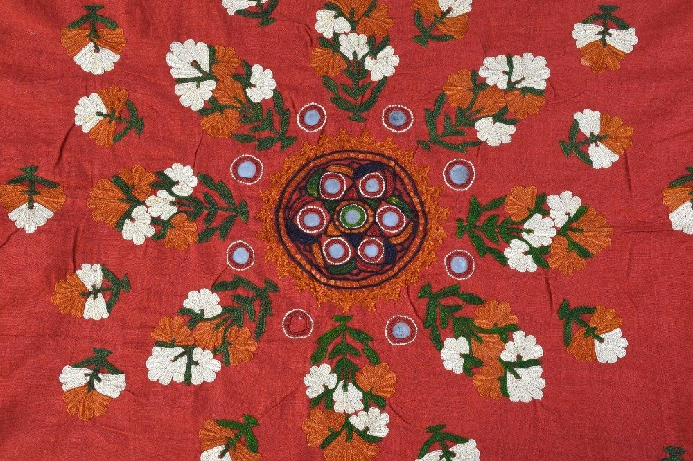 An Indian embroidered head shawl, Sind Rajasthan, first
