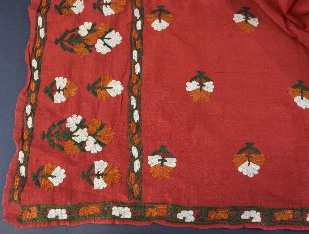 An Indian embroidered head shawl, Sind Rajasthan, first - 2