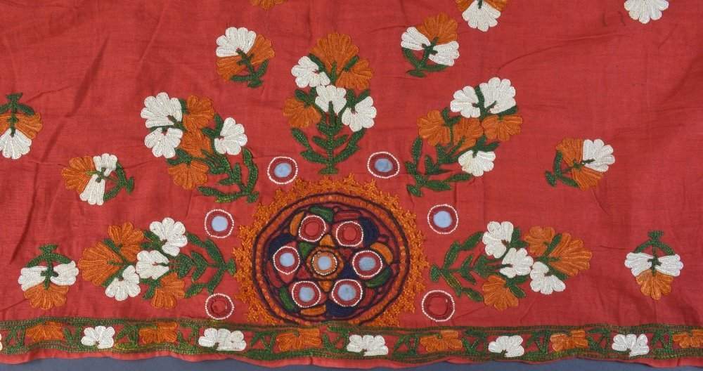 An Indian embroidered head shawl, Sind Rajasthan, first - 3