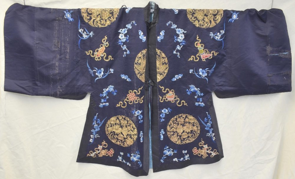 Chinese Qing dynasty Jifu surcoat with Buddhist
