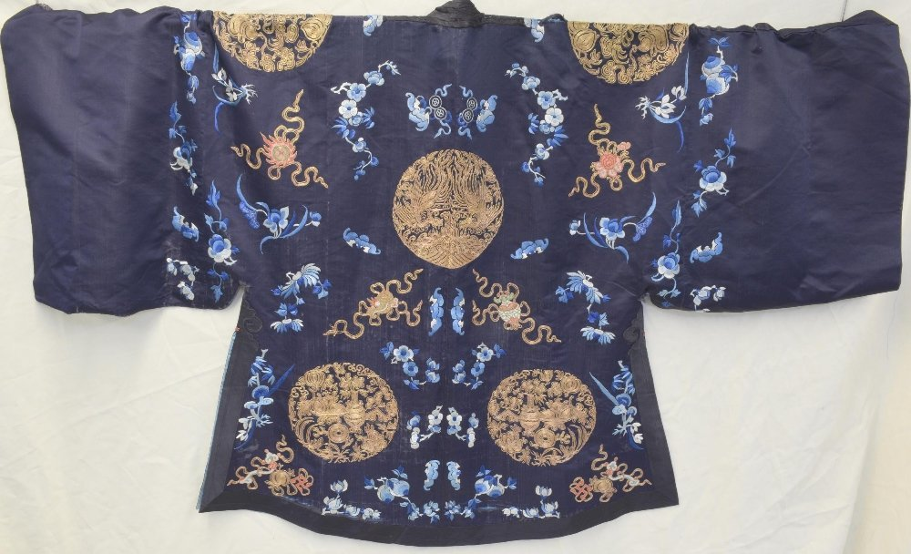 Chinese Qing dynasty Jifu surcoat with Buddhist - 5