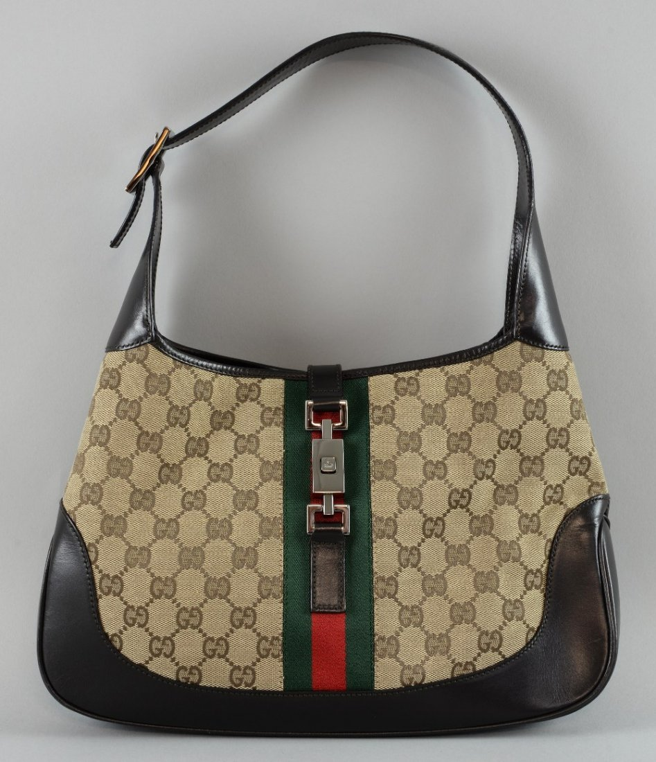 Gucci Jackie Monogram canvas bag, the body 23 x 31.5