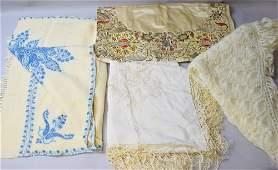 A Kashmir wool runner, a Turkish silk and embroidered