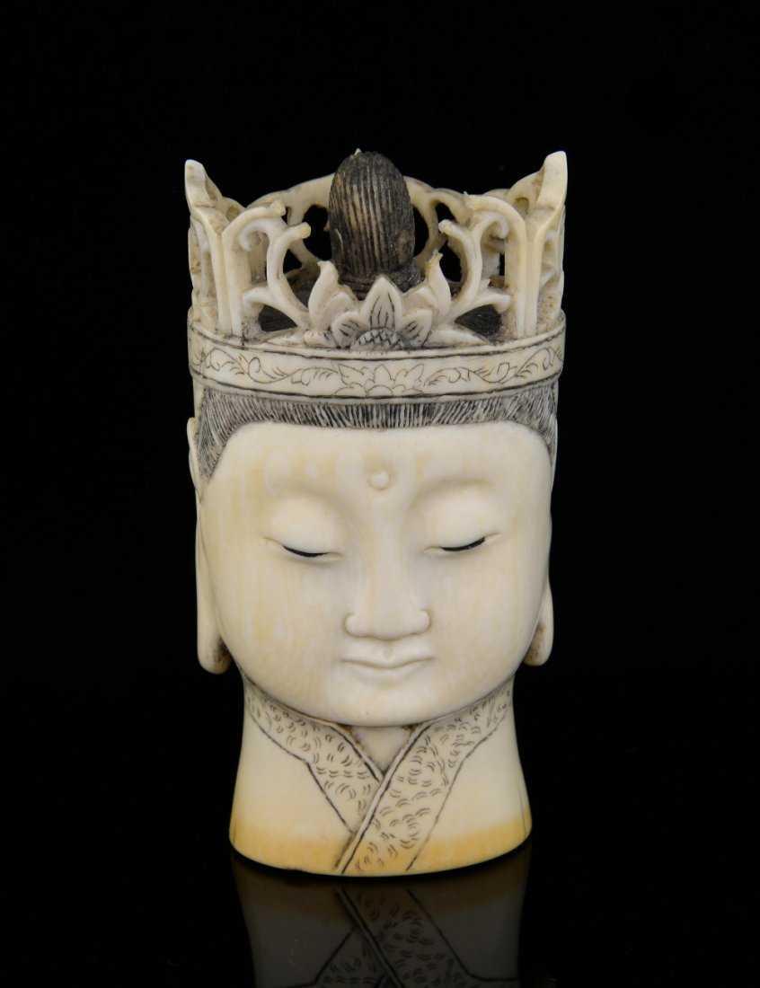d51ac4ebc Early 20th century ivory carving of a Buddavista