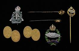 Collection of Royal Tank Regiment jewellery including a