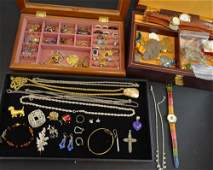 Large collection of costume jewellery, silver and