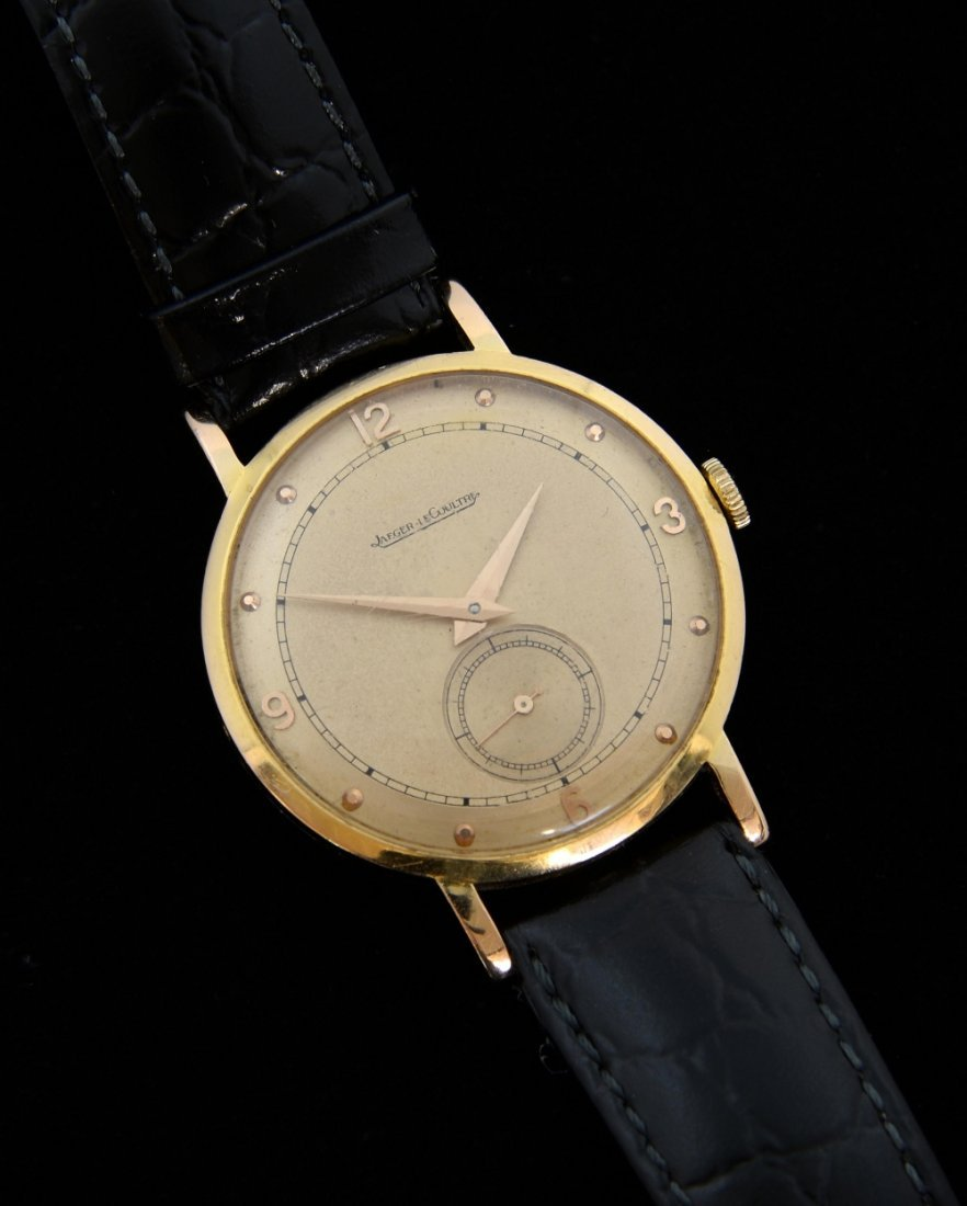 Jaeger LeCoultre, 18ct gold wristwatch the champagne