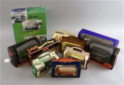 Collection of die-cast vehicles including an 80th