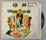 James Bond - Live and Let Die - Vinyl LP album signed