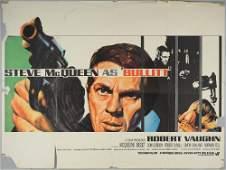 Bullitt (1968) British Quad film poster, starring Steve