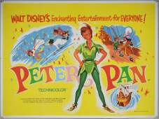 Walt Disney's Peter Pan (1953) British Quad & later