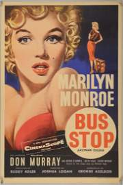 Bus Stop (1956) English Double Crown film poster,