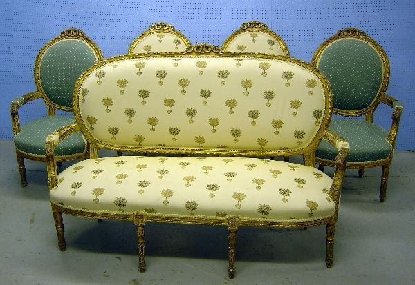 5: Suite of French giltwood salon furniture
