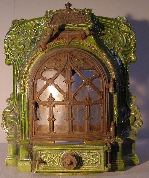 8: Art Nouveau porcelain and wrought metal
