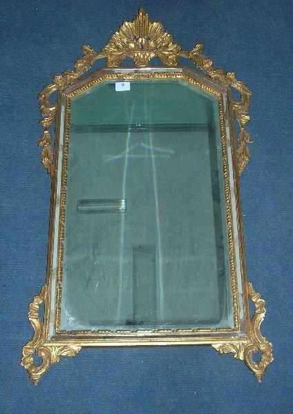 9: Continental gilt gesso framed mirror