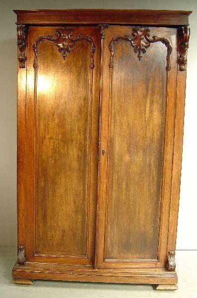 17: Victorian mahogany wardrobe