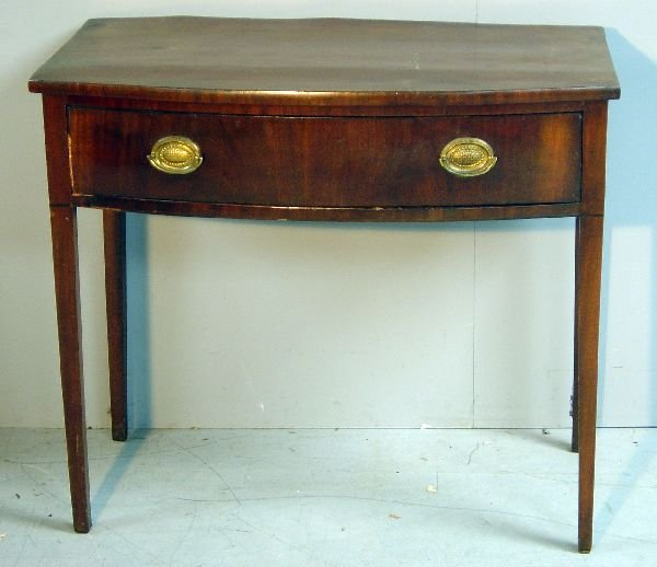18: George III mahogany bow fronted side table
