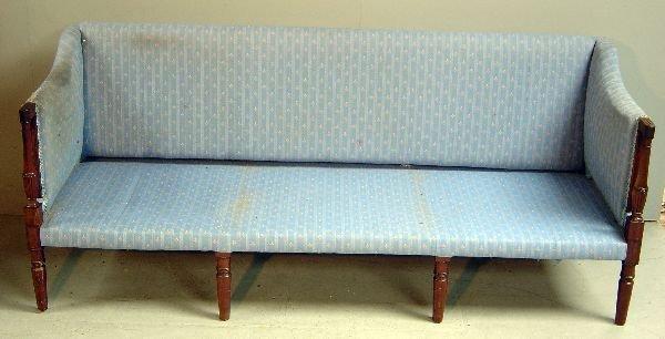 19: Regency mahogany framed sofa
