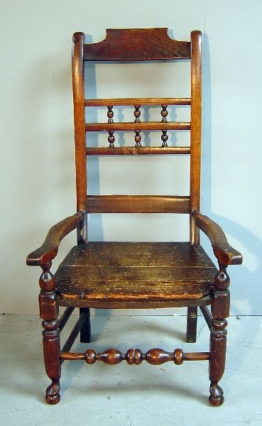 21: 19th century Scottish oak armchair