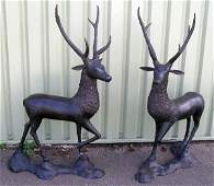177 Pair of bronze figures of stags