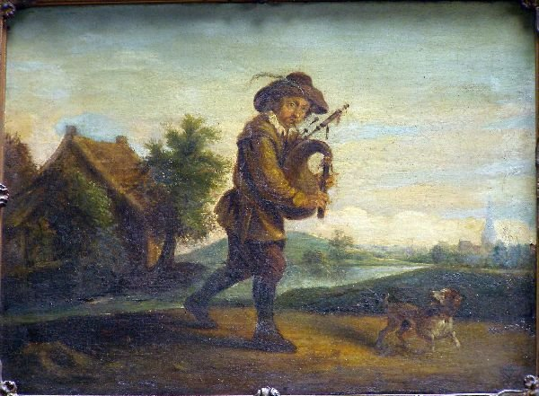 796: 'The Bagpipe Player' after David Teniers,