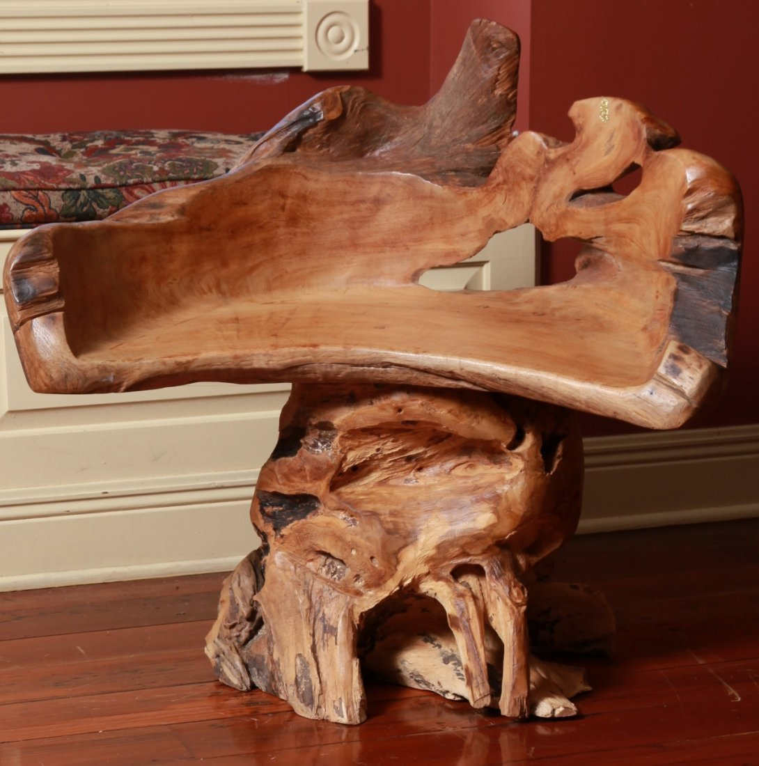 Beautifully Hand Carved Wooden Chair/Loveseat