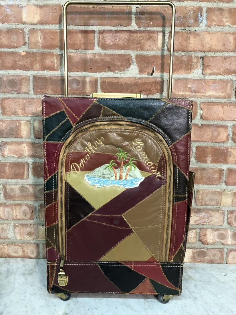 Dorothy Lamour Patchwork Leather Suitcase