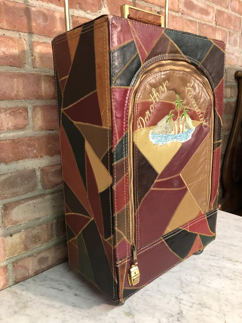 Dorothy Lamour Patchwork Leather Suitcase - 3