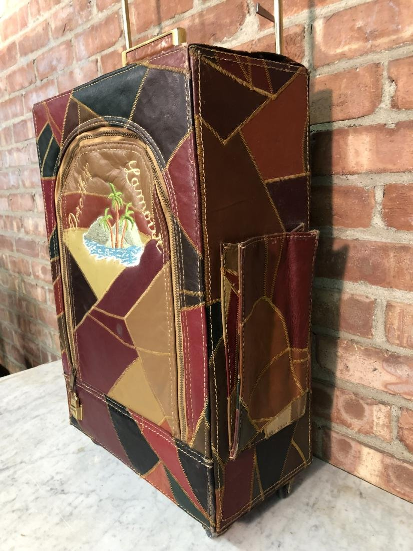 Dorothy Lamour Patchwork Leather Suitcase - 4