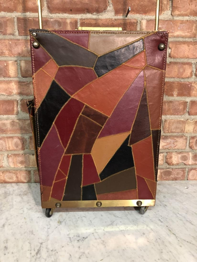 Dorothy Lamour Patchwork Leather Suitcase - 5
