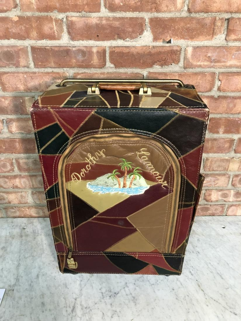 Dorothy Lamour Patchwork Leather Suitcase - 6