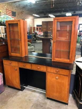 Vintage 2 piece Beauty Shop Cabinet/Station
